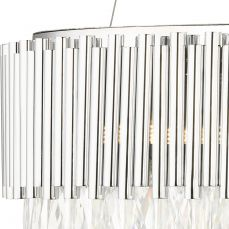 Astoria 13 Light Crystal Pendant with Polished Chrome Bars Crystal Close Up
