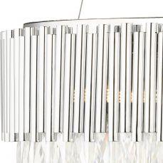 Astoria 13 Light Crystal Pendant with Polished Chrome Bars Crystal Close Up