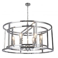 Chester 6 Light Pendant Polished Chrome