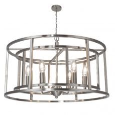 Chester 6 Light Pendant Satin Chrome