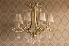 Darcey 8 Light Crystal Ceiling Light Antique with Shade