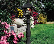 Iafet.R Black Medium Height Single Post Tobia E27