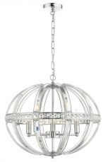 Laura 5 Light Oval Pendant Polished Chrome