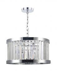 Pandora 3 Light Crystal Pendant Polished Chrome
