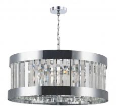 Pandora 5 Light Crystal Pendant Polished Chrome