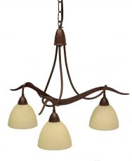 Paola 3 Light Ceiling Light with Scavo Cream Glass