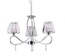 Senza 3 Light Polished Chrome with Crystal Shades