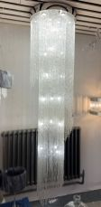 Willow 27 Light 2400mm Large Crystal Chrome Ceiling Light